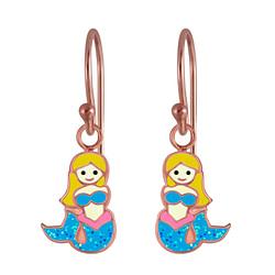 Wholesale Sterling Silver Mermaid Earrings - JD3011