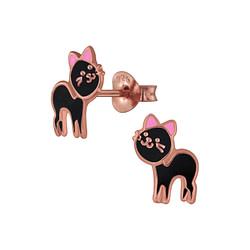 Wholesale Sterling Silver Cat Ear Studs - JD2962