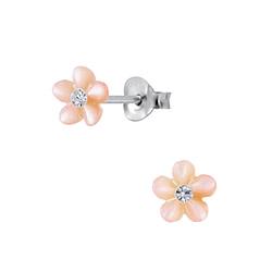 Wholesale Sterling Silver Shell Flower Ear Studs - JD2830