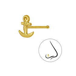 Wholesale Sterling Silver Anchor Nose Stud With Ball - JD3323