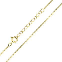 Wholesale 45cm Sterling Silver Extension Curb Chain - JD8782