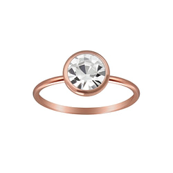 Wholesale Sterling Silver 7mm Solitaire Ring - JD3452