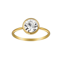 Wholesale Sterling Silver 7mm Solitaire Ring - JD3451