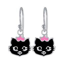Wholesale Sterling Silver Cat Earrings - JD3983