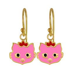 Wholesale Sterling Silver Cat Earrings - JD3969