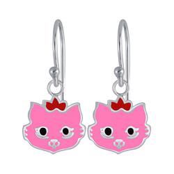 Wholesale Sterling Silver Cat Earrings - JD3982