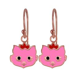 Wholesale Sterling Silver Cat Earrings - JD3984