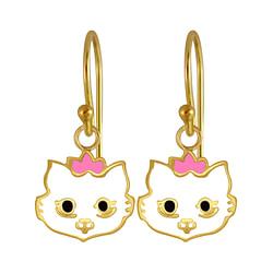 Wholesale Sterling Silver Cat Earrings - JD3985