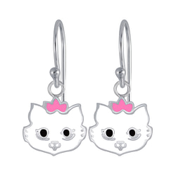 Wholesale Sterling Silver Cat Earrings - JD3953