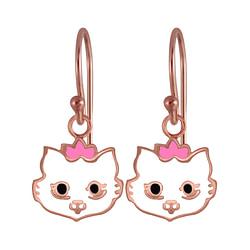 Wholesale Sterling Silver Cat Earrings - JD3955