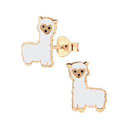 Wholesale Sterling Silver Alpaca Ear Studs - JD3015