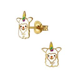 Wholesale Sterling Silver Alpaca Ear Studs - JD3926