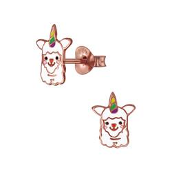 Wholesale Sterling Silver Alpaca Ear Studs - JD3927