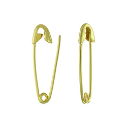 Wholesale Sterling Silver Safety Pin Ear Hoops - JD4055