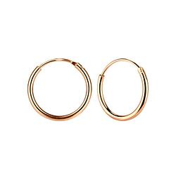 Wholesale 14mm Sterling Silver Ear Hoops - JD3692