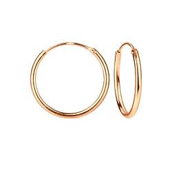 Wholesale 16mm Sterling Silver Ear Hoops - JD3693