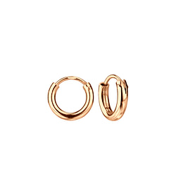 Wholesale 10mm Sterling Silver Thick Ear Hoops - JD3746