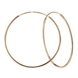 Wholesale 80mm Sterling Silver Thick Ear Hoops - JD3734