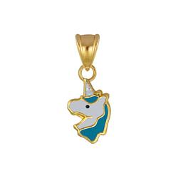 Wholesale Sterling Silver Unicorn Pendant - JD4073