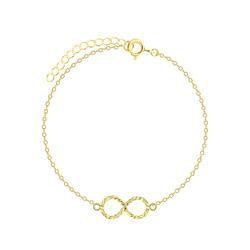 Wholesale Sterling Silver Infinity Twist Bracelet - JD5575