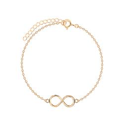 Wholesale Sterling Silver Infinity Bracelet - JD5489