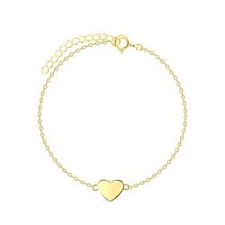 Wholesale Sterling Silver Heart Bracelet - JD5792