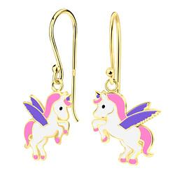 Wholesale Sterling Silver Unicorn Earrings - JD4017