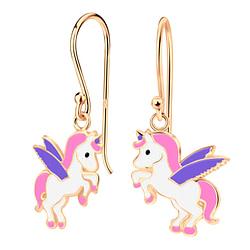 Wholesale Sterling Silver Unicorn Earrings - JD4009
