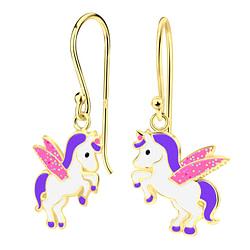 Wholesale Sterling Silver Unicorn Earrings - JD4262