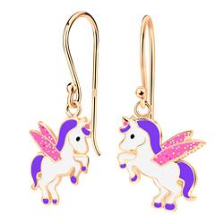 Wholesale Sterling Silver Unicorn Earrings - JD4008