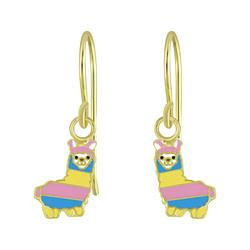 Wholesale Sterling Silver Alpaca Earrings - JD4619