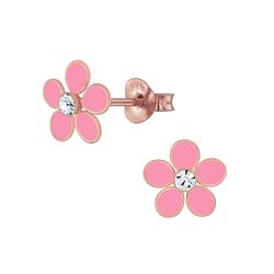 Wholesale Sterling Silver Flower Ear Studs - JD4608
