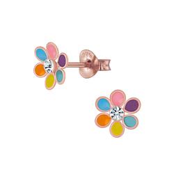 Wholesale Sterling Silver Flower Ear Studs - JD4610