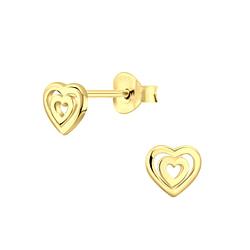 Wholesale Sterling Silver Heart Ear Studs - JD5222