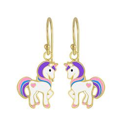 Wholesale Sterling Silver Unicorn Earrings - JD4797