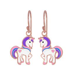 Wholesale Sterling Silver Unicorn Earrings - JD4798