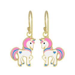Wholesale Sterling Silver Unicorn Earrings - JD4795
