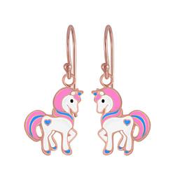 Wholesale Sterling Silver Unicorn Earrings - JD4796