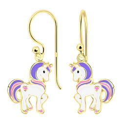 Wholesale Sterling Silver Unicorn Earrings - JD4799