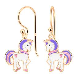 Wholesale Sterling Silver Unicorn Earrings - JD4800