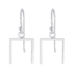 Wholesale Sterling Silver Geometric Earrings - JD4734