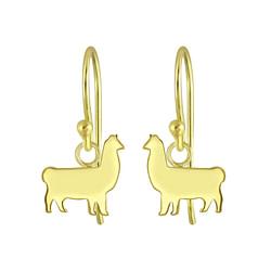 Wholesale Sterling Silver Llama Earrings - JD5676