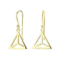 Wholesale Sterling Silver Triangle Earrings - JD5801