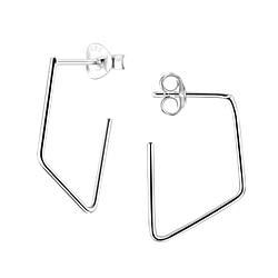 Wholesale Sterling Silver Geometric Ear Studs - JD4981