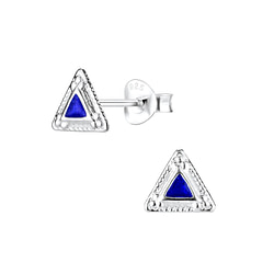 Wholesale Sterling Silver Triangle Ear Studs - JD5293