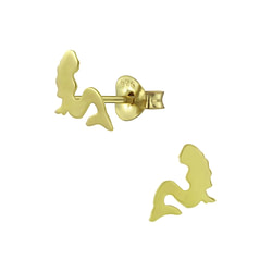 Wholesale Sterling Silver Mermaid Ear Studs - JD5568