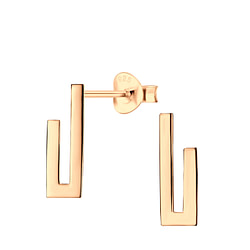 Wholesale Sterling Silver Geometric Ear Studs - JD6473