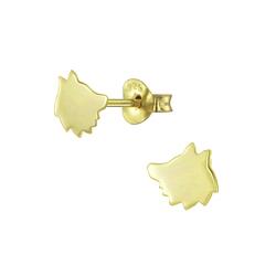 Wholesale Sterling Silver Fox Ear Studs - JD5699