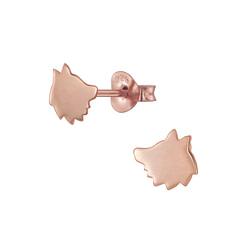 Wholesale Sterling Silver Fox Ear Studs - JD4828