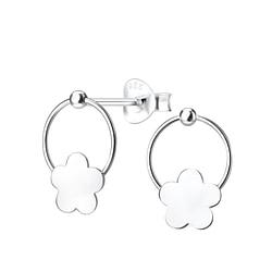 Wholesale Sterling Silver Flower Ear Studs - JD4921
